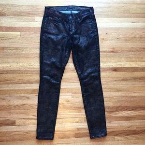 7 For All Mankind glitter black denim jeans